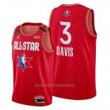 Camiseta All Star 2020 Los Angeles Lakers Anthony Davis NO 3 Rojo