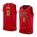Camiseta Atlanta Hawks Trae Young #11 Statement 2017-18 Rojo