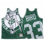 Camiseta Boston Celtics Larry Bird NO 33 Mitchell & Ness Big Face Verde