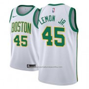 Camiseta Boston Celtics Walter Lemon Jr. #45 Ciudad 2018-19 Blanco