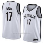 Camiseta Brooklyn Nets Ed Davis #17 Association 2018 Blanco
