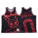 Camiseta Chicago Bulls Coby White NO 0 Mitchell & Ness Big Face Negro