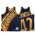 Camiseta Golden State Warriors Nathaniel Thurmond NO 42 Mitchell & Ness Big Face Azul