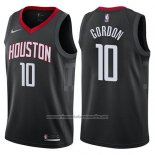 Camiseta Houston Rockets Eric Gordon #10 Statement 2017-18 Negro