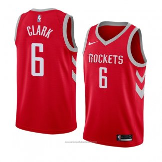 Camiseta Houston Rockets Gary Clark #6 Icon 2018 Rojo