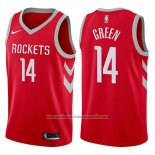 Camiseta Houston Rockets Gerald Green #14 2017-18 Rojo