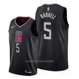 Camiseta Los Angeles Clippers Montrezl Harrell NO 5 Statement Negro