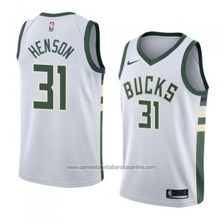 Camiseta Milwaukee Bucks John Henson #31 Association 2018 Blanco