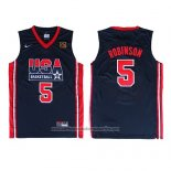 Camiseta USA 1992 David Robinson #5 Negro