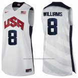 Camiseta USA 2012 Deron Williams #8 Blanco