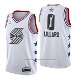 Camiseta All Star 2019 Portland Trail Blazers Damian Lillard #0 Blanco