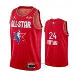 Camiseta All Star 2020 Los Angeles Lakers Kobe Bryant NO 24 Rojo