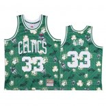 Camiseta Boston Celtics Larry Bird NO 33 Hardwood Classics Tear Up Pack Verde