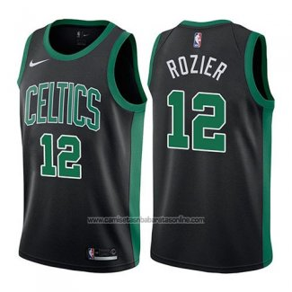 Camiseta Boston Celtics Terry Rozier #12 Statehombret 2017-18 Negro