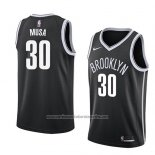 Camiseta Brooklyn Nets Dzanan Musa #30 Icon 2018 Negro