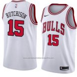 Camiseta Chicago Bulls Chandler Hutchison #15 Association 2018 Blanco