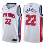 Camiseta Detroit Pistons Avery Bradley #22 Association 2017-18 Blanco