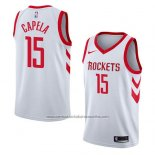 Camiseta Houston Rockets Clint Capela #15 Association 2018 Blanco