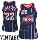 Camiseta Houston Rockets Clyde Drexler #22 Retro Azul