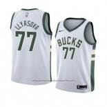 Camiseta Milwaukee Bucks Ersan Llyasova #77 Association 2018 Blanco