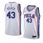 Camiseta Philadelphia 76ers Jonah Bolden #43 Association 2017-18 Blanco