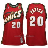 Camiseta Seattle SuperSonics Gary Payton #20 Historic Retro Rojo