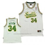 Camiseta Seattle SuperSonics Ray Allen #34 Historic Blanco