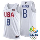 Camiseta USA 2016 Jerry Stackhouse #8 Blanco
