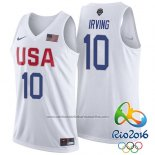 Camiseta USA 2016 Kyrie Irving #10 Blanco