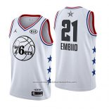 Camiseta All Star 2019 Philadelphia 76ers Joel Embiid #21 Blanco