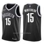 Camiseta Brooklyn Nets Isaiah Whitehead #15 Icon 2017-18 Negro