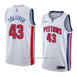 Camiseta Detroit Pistons Anthony Tolliver #43 Association 2018 Blanco