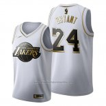 Camiseta Golden Edition Los Angeles Lakers Kobe Bryant NO 24 2019-20 Blanco
