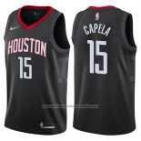 Camiseta Houston Rockets Clint Capela #15 Statement 2017-18 Negro