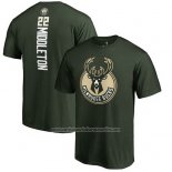 Camiseta Manga Corta Khris Middleton Milwaukee Bucks Verde