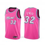 Camiseta Miami Heat Shaquille O'neal NO 32 Earned Rosa