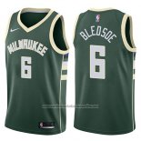 Camiseta Milwaukee Bucks Eric Bledsoe #6 Icon 2017-18 Verde