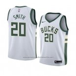 Camiseta Milwaukee Bucks Jason Smith #20 Association 2018 Blanco