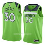 Camiseta Minnesota Timberwolves Aaron Brooks #30 Statement 2018 Verde