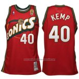 Camiseta Seattle SuperSonics Shawn Kemp #40 Historic Retro Rojo