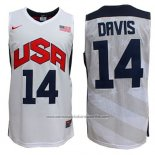 Camiseta USA 2012 Anthony Davis #14 Blanco