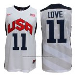 Camiseta USA 2012 Kevin Love #11 Blanco
