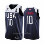 Camiseta USA Jayson Tatum #10 2019 FIBA Basketball World Cup Azul