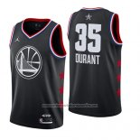 Camiseta All Star 2019 Golden State Warriors Kevin Durant #35 Negro