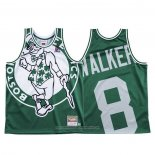 Camiseta Boston Celtics Kemba Walker NO 8 Mitchell & Ness Big Face Verde