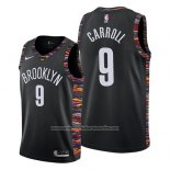 Camiseta Brooklyn Nets Demarre Carroll #9 Ciudad 2019 Negro