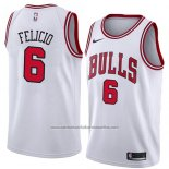 Camiseta Chicago Bulls Cristiano Felicio #6 Association 2018 Blanco