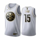 Camiseta Golden Edition Denver Nuggets Nikola Jokic NO 15 Blanco