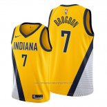 Camiseta Indiana Pacers Malcolm Brogdon NO 7 Statement Edition Amarillo
