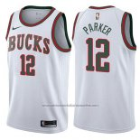 Camiseta Milwaukee Bucks Jabari Parker #12 Return To The Mecca Classic 2017-18 Blanco